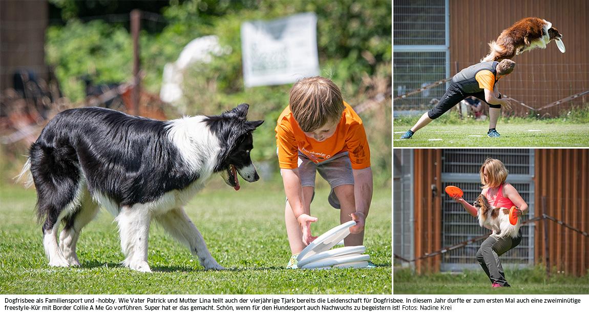 Familiensport Dogfrisbee